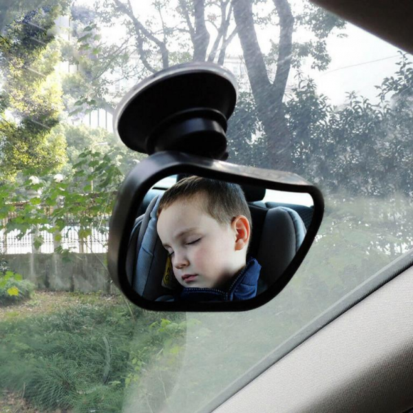 Автомобильное зеркало для присмотра за ребенком прямоугольное маленькое