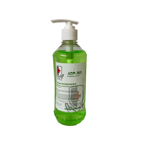 Антисептик для рук длительного действия РД70П 500мл (с прижимным дозатором).