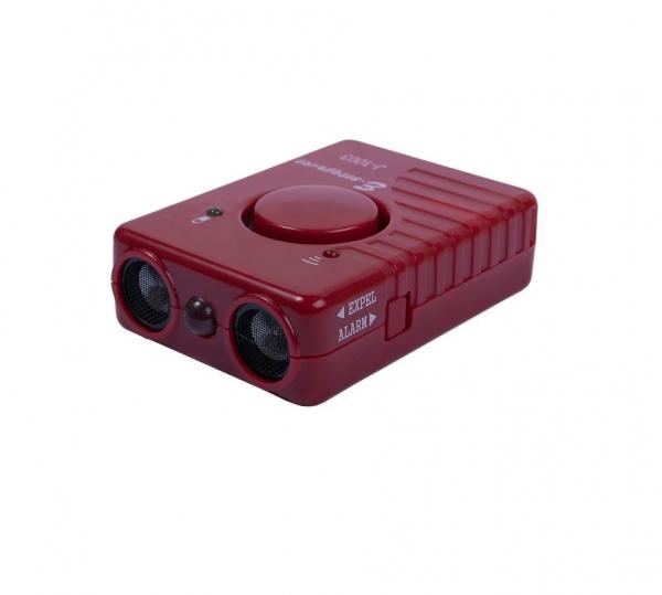 Мощный ультразвуковой отпугиватель собак с аккумулятором и сиреной  J-1003