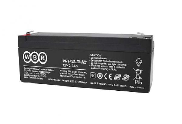 Аккумулятор WBR 12В / 2,3 Ah плоский