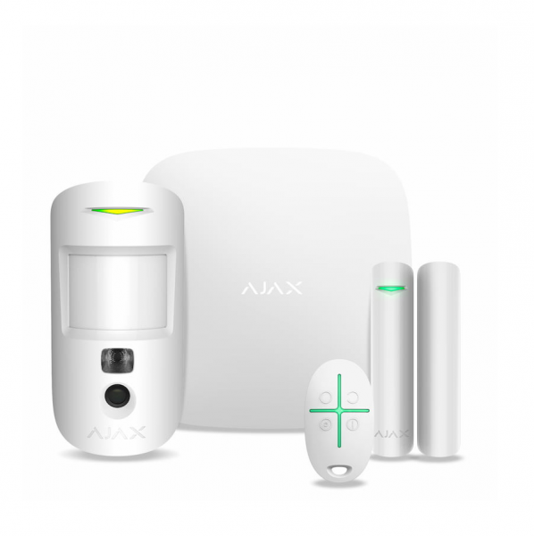 Комплект сигнализации Ajax StarterKit Cam Plus White