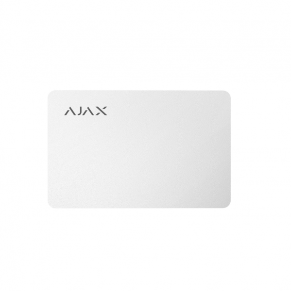 Карта для управления охранной системой Ajax Pass White (комплект 3 шт)