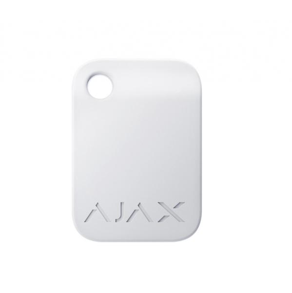 Брелок для управления охранной системой Ajax Tag White (комплект 3 шт)