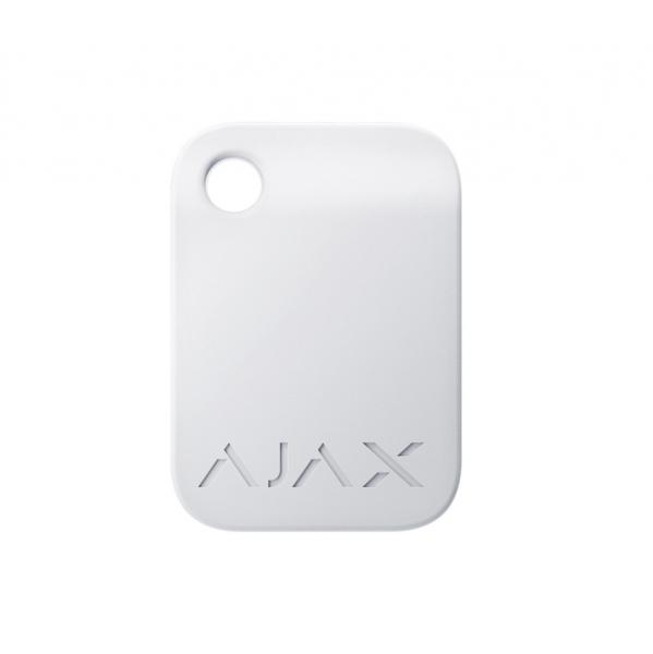 Брелок для управления охранной системой Ajax Tag White (комплект 100 шт)