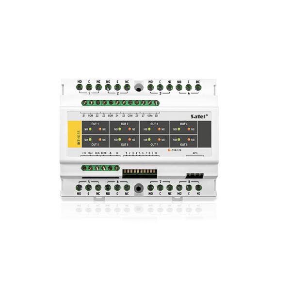 Модуль расширения зон и выходов на DIN-рейку Satel INT-IORS