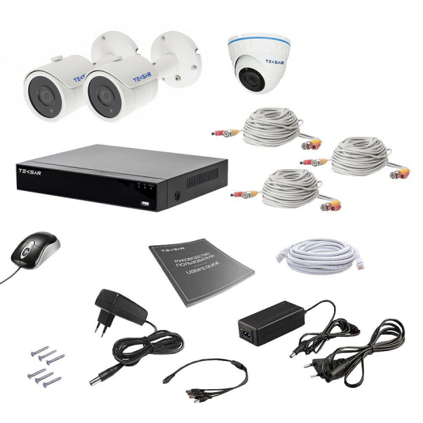Комплект видеонаблюдения Tecsar AHD 3MIX 5MEGA