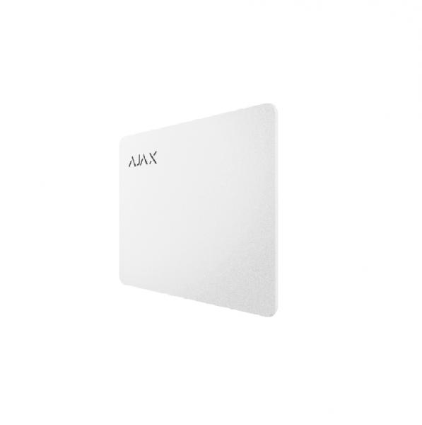 Карта для управления охранной системой Ajax Pass White (комплект 10 шт)