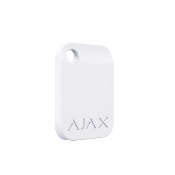 Брелок для управления охранной системой Ajax Tag White (комплект 10 шт)