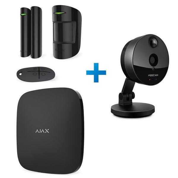 Комплект сигнализации Ajax StarterKit Black + IP-видеокамера Foscam C1