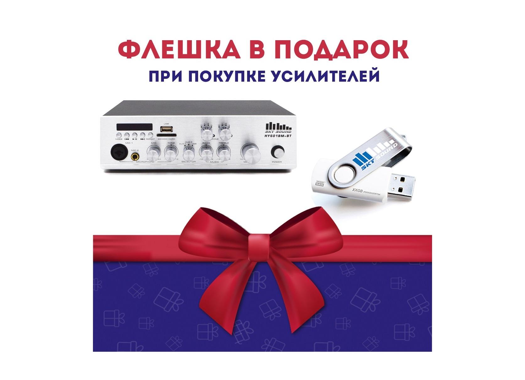 Акция! «Купи усилитель мощности – получи флешку в подарок!»
